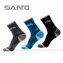 2017 New Fashing Men s semi thick Merino wool warming socks for Climing Compression Happy Socks