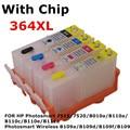 364 XL cartucho de tinta recarregáveis para Photosmart 7520 B010a B110e B111a B110c B110a B109a B109d B109f de impressora B109n