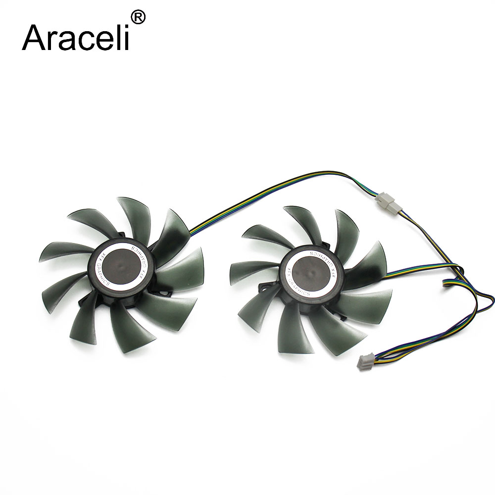New 85mm FDC10H12S9-C GA91S2U 4Pin Cooler Fan Replace For Palit GeForce GTX 1070 Ti 1070 1060 1080 GTX1060 Dual Graphics Card image