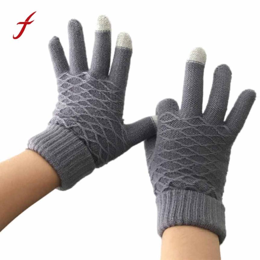 2018 new fashion winter women keep warm gloves crochet full finger gloves mittens cashmere keep warm gloves gants femme