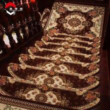 Estilo 165 stair carpet jiabolang europa bordado antideslizantes suaves alfombras de alfombra de la escalera antideslizante espesar alfombras de piso alto calidad