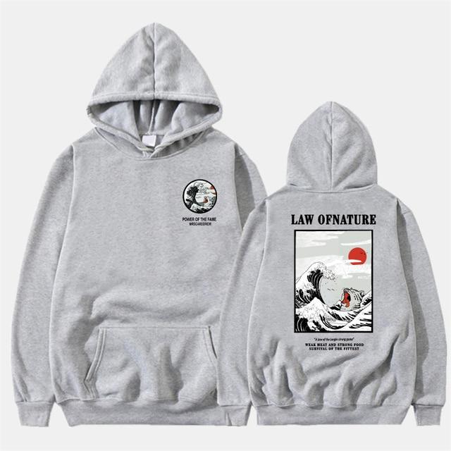 Funny Cat Wave Printed Fleece Hoodies Winter Japan Style Hip Hop Casual Sweatshirts KODAK Street wear 4