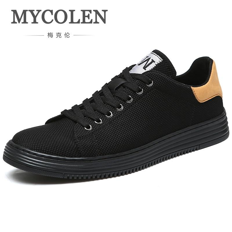 MYCOLEN Men's Casual Luxury Brand Shoes 2018 Fashion Lace-Up Canvas Shoes Men Summer Classic Mens Flats Shoes Sepatu Pria все цены