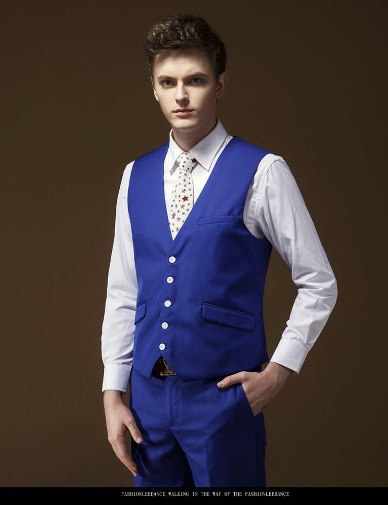 Royal Blue Handsome One Button Groom Tuxedos Best Man Suit Wedding Wear Men Suits Party Jacket Pants Vest In From Mens Clothing