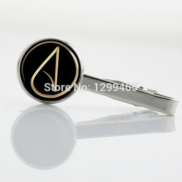 Online Shop Promotion Atheist Atom Symbol Silver Metal Tie Pin