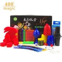 400 Магия Подарочная коробка, черный ящик, волшебная игрушка, Puzzle создание, ребенку Волшебный реквизит закрыть