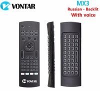Russian English Backlight MX3 PRO Air Mouse With Voice MX3 Wireless Keyboard Remote Control 2 4G