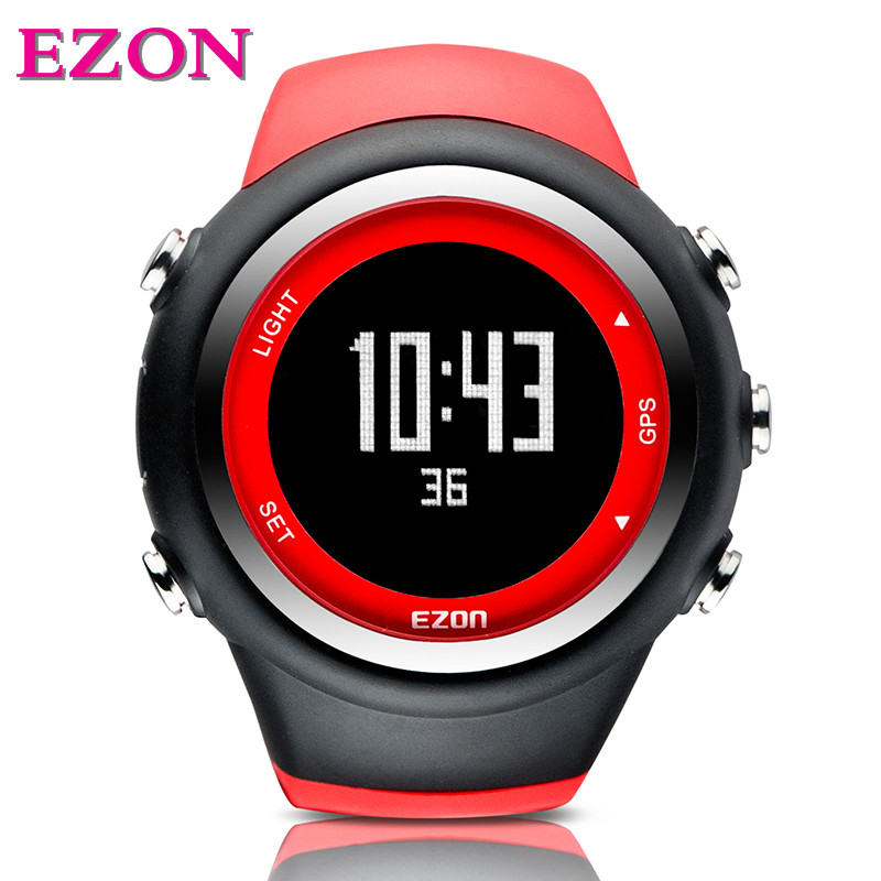 2017 original EZON T031 Men Watches Luxury Brand GPS Timing Running Sports Watch Calorie Counter sport Watches EZON T031 ezon outdoor sports for smart gps watches running male multifunctional 5atm waterproof electronic watch g1 black