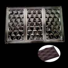 3D Cubes Polycarbonate Chocolate  Bars Mold PC Food Grade Candy Mould Chocolate Candy Pastry Tool
