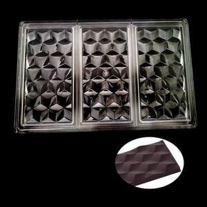 Image 1 - Molde 3D de policarbonato para barras de Chocolate, molde para dulces de grado alimenticio, herramienta de repostería
