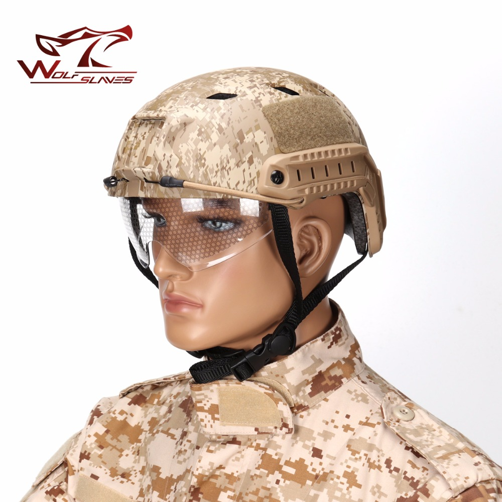 Emerson FAST Helmet With Protective Goggle Pararescue Jump Type helmet Military Tactical Airsoft Helmet BJ fast helmet protective goggle helmet pararescue jump type helmet military tactical airsoft helmet