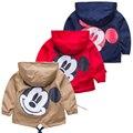 2017 Nueva capa de la chaqueta primavera otoño chaqueta de los niños ropa de impresión bebé ropa niños sudaderas niños outwear