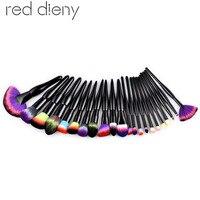 22pcs Black White Makeup Brushes Set Eyeshadow Powder Foundation Fan Blush Contour Concealer Face Blend Cosmetic