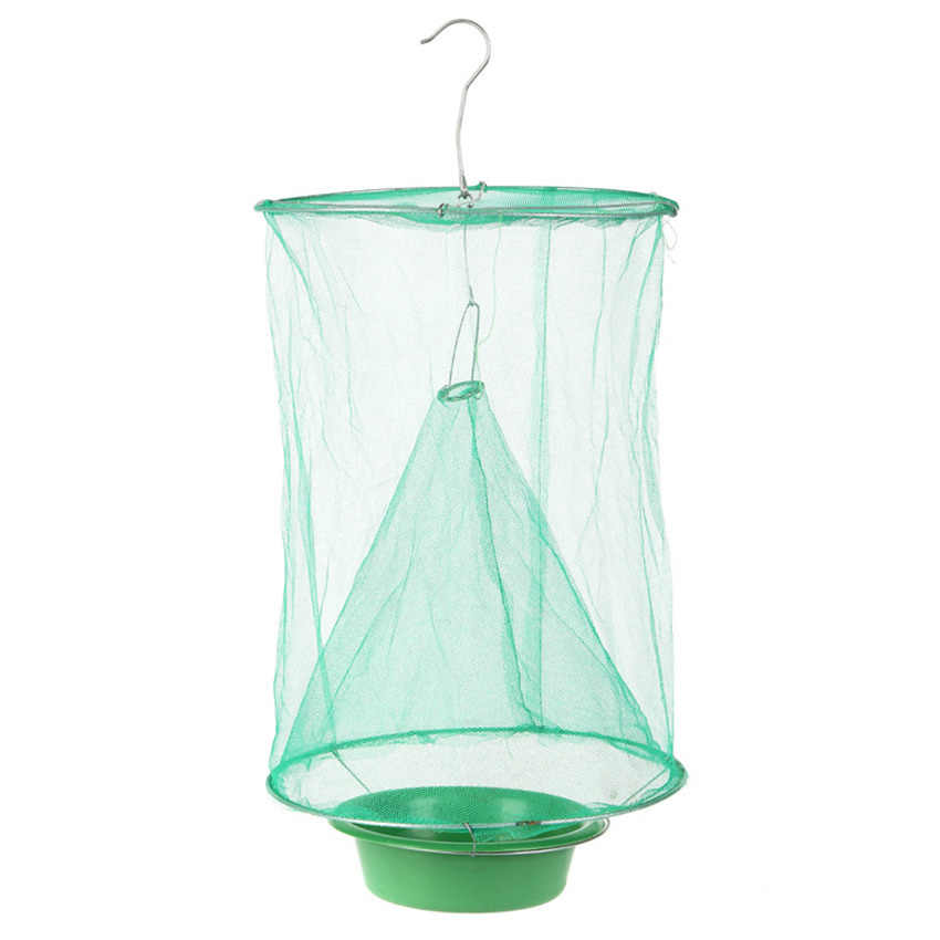 Detail Feedback Questions about 1Pcs Reusable Hanging Fly Catcher Killer  Pest Control Foldable Fly Trap Cage Net Outdoor Home Yard Garden Supplies  on