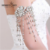 Beautiful Bridal Wedding Rhinestone Crystal Dangle Long Tassel Lolita Arm Deco Armlet /Nekclace /SHoulder chain
