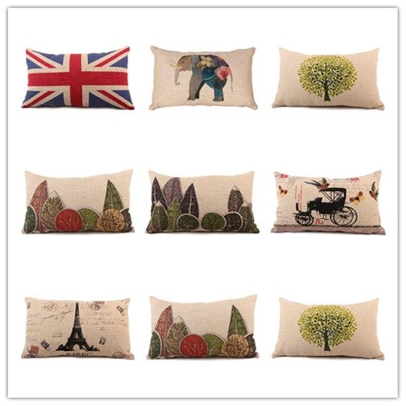 New Nordic Fashion View Printed Pillow Bed Sofa Cushion Cover Home Decorative Throw Fundas Para Almofadas 30x50 Cojines