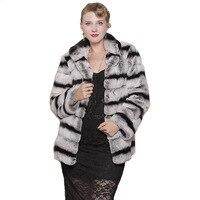 Пальто из натурального меха кролика 70 см