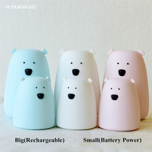 Touch-Sensor Night-Lamp Sleeping-Light Silicone Kids Christmas-Gift Colorful Baby Children