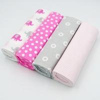 4pcs Set 2017 Cute Baby Blankets 4 Patterns Fleece Infant Swaddle Bebe Envelope Stroller Wrap For
