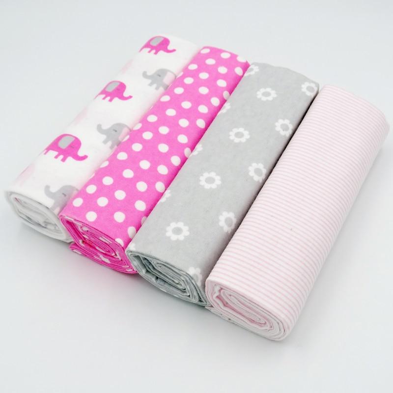 4pcs/set 2018 Cute Baby Blankets 4 Patterns Fleece Infant Swaddle Bebe Envelope Stroller Wrap For Newborns Baby Bedding Blanket removable liner baby infant swaddle blanket 100