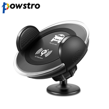 Powstro Car Wireless Charger Car Mount Air Vent Mobile Phone Holder Universal Wireless Charging For Samsung Galaxy all Qi Device