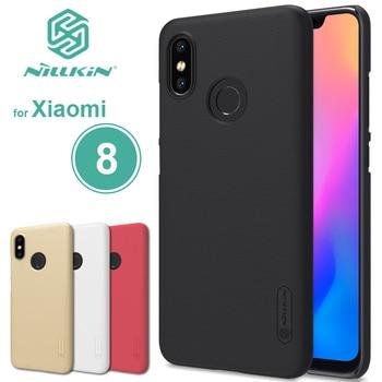 for Xiaomi Mi 8 Case Nillkin Super Frosted Shield Hard Back PC Cover Matte Case for Xiaomi Mi8 M8 Phone Case + Screen Protector