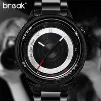BREAK Unique Design Luxury Men Unisex Clock Fashion Casual Sports Cool Wowen Lover Quartz Watch Photographer