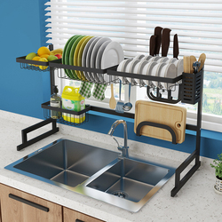 Küche Regal Organizer Teller Trocknen Rack Über Waschbecken Utensilien Halter Schüssel Schüssel Ablassen Regal Küche Lagerung Arbeitsplatte Organizer