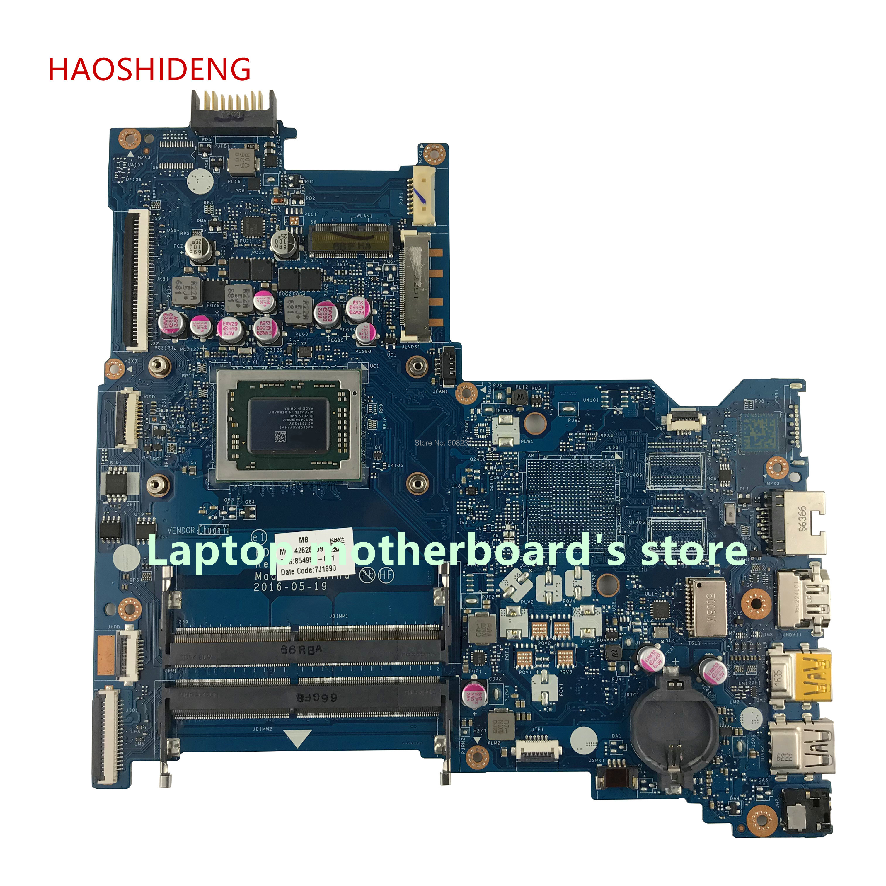 цена на HAOSHIDENG 854957-501 854957-601 BDL51 LA-D713P for HP NOTEBOOK 15-BA 15Z-BA 15-BA089NR motherboard with A10-9600P fully Tested