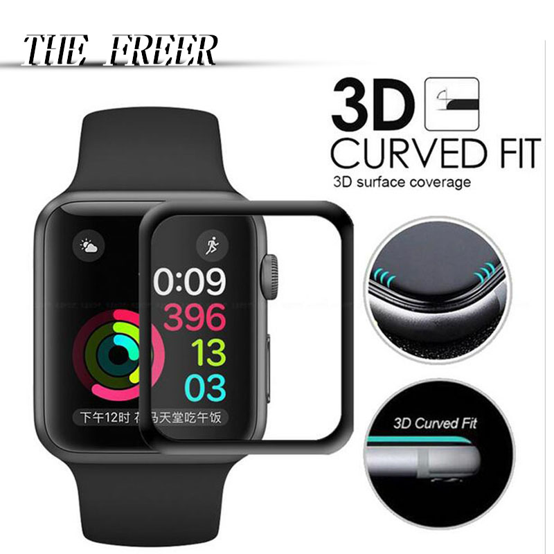 iWatch band Apple 3D Curved Full Coverage Tempered Glass Protective Film For iwatch Apple Watch Screen Protector Cover Appleband