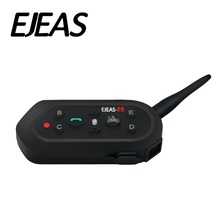 EJEAS E6 1200m VOX Bluetooth Motorcycle Intercom Headset For KTM Moto Helmets 6 Riders Support Music MP3 Interphone