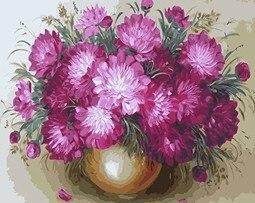 Mahuaf X538 Różowy Chryzantema Obraz Olejny By Numbers Kwiaty