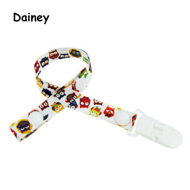 Baby PU Leather Pacifier Clip Soother Chain Dummy Clip Soother Nipple Strap SK