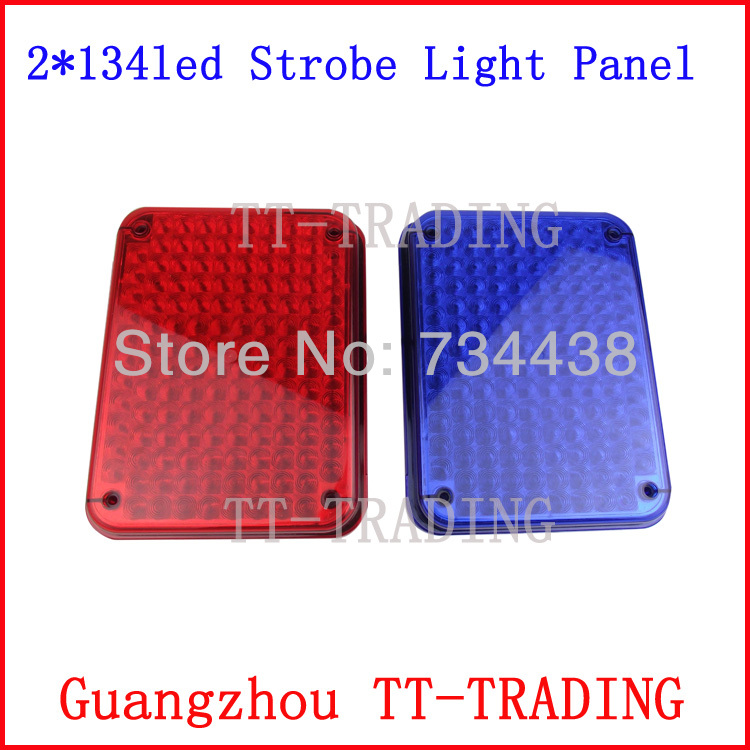 268 led high bright ambulance strobe lights police warning light security booth lamp panel RED BLUE DC 12V 8led bright led solar powered traffic warning light barricade lights strobe tower warning lights road cone