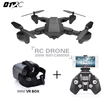 RC Foldable Selfie RC Drone With FPV Wifi Camera Altitude Hold Mini Quadcopter OTRC S9HW 2.0MP or 0.3mp hd drones vr glasses