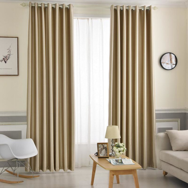 Gray Curtains Pure Solid Color Blackout For Living Room Bedroom Drapes Fabrics Home Textiles Rideaux X243 30