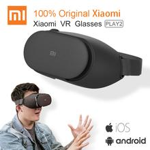 Oryginalny Xiao mi VR Play 2 Virtual Reality 3D okulary zestaw słuchawkowy Xiao mi mi VR Play2 z kinem kontroler do gier dla 4 7-5 7 telefon tanie tanio XIAOMI Smartphones Binocular Wciągające Brak xiaomi VR play2 Pakiet 1 Okulary Tylko Gray 4 7-5 7inch