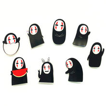 1Pcs Lovely Cartoon No Face Man Acrylic Brooch Kawaii Badges Backpack Clothes Women Decoration Icon Brooches Pin For Kids Gift(China)