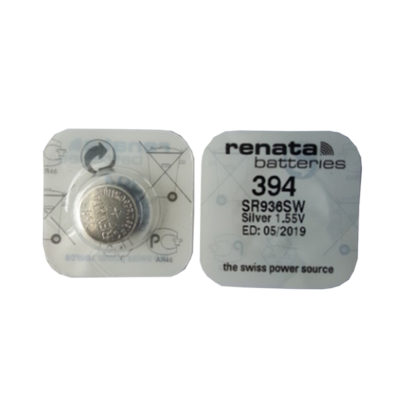 Renata 2Pcs/lot 394 SR936SW AG9 Button Battery For Watch Clock Repair Tools Cell Batteries 1 55v ag9 lr936 cell button batteries 10 piece pack