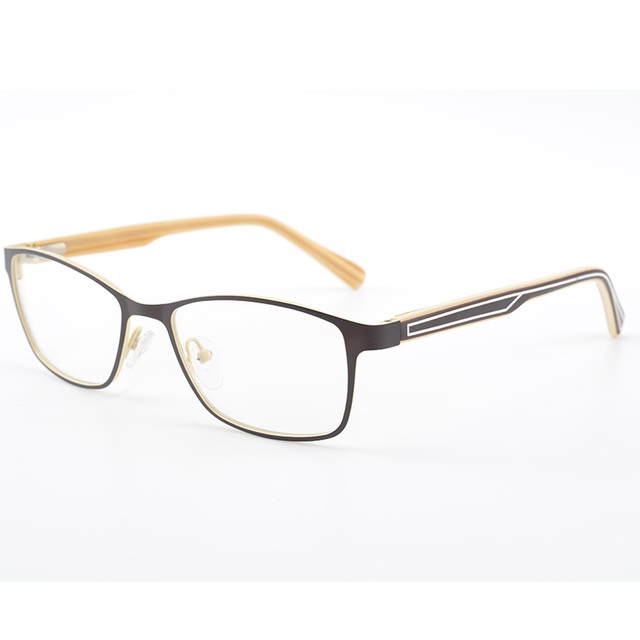 stylish brown women metal eyeglasses frame female optical glasses eyewear myopia frame really always fashion - Womens Metal Eyeglass Frames