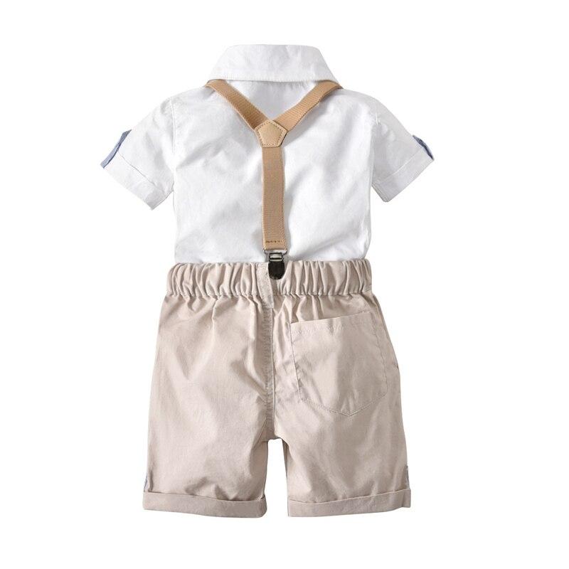 Jongenskleding Sets Mode Gentleman Zomer Top Waggel Suit Solid - Kinderkleding - Foto 2