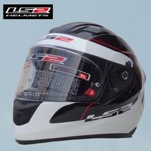 Free shipping LS2 FF320 motorcycle helmet with airbag professional racing motorcycle helmet full helmet fiberglass White Luna Er