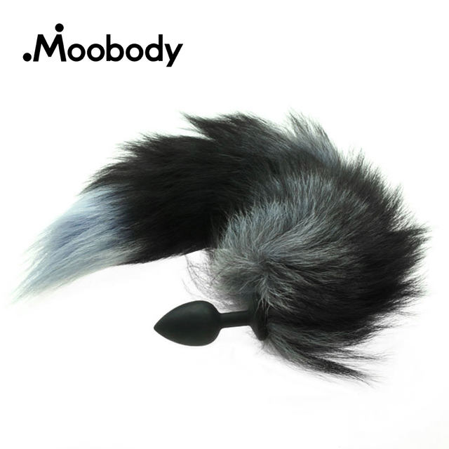 56447b69d Silicone Butt Plug Black Fox Tail Anal Plug Smooth Fur Faux Fox Dog Tail  Anal Plug Sex Toys For Women Adult Games Sex Products