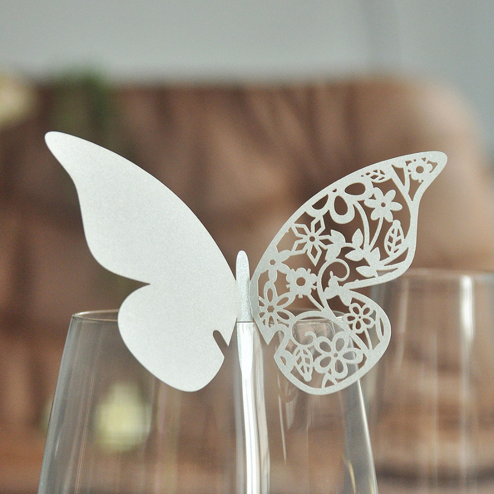 Laser Cut Butterfly Place Card