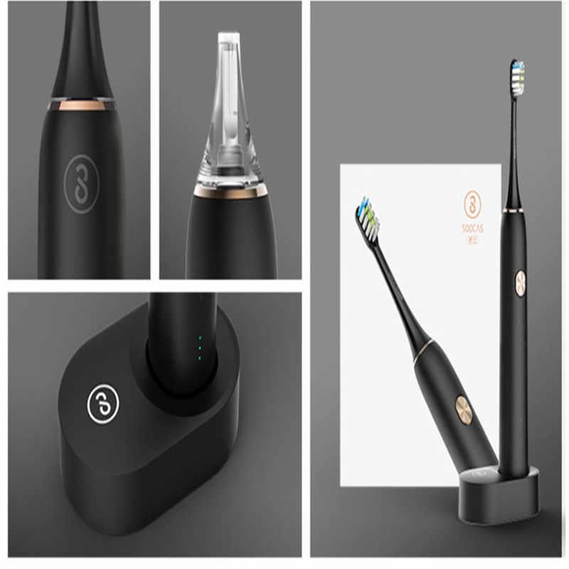 Xiaomi электрические зубные щётки обновлен перезаряжаемые Smart sonic ультразвуковая щетка отбеливание зубов вибратор беспроводной APP