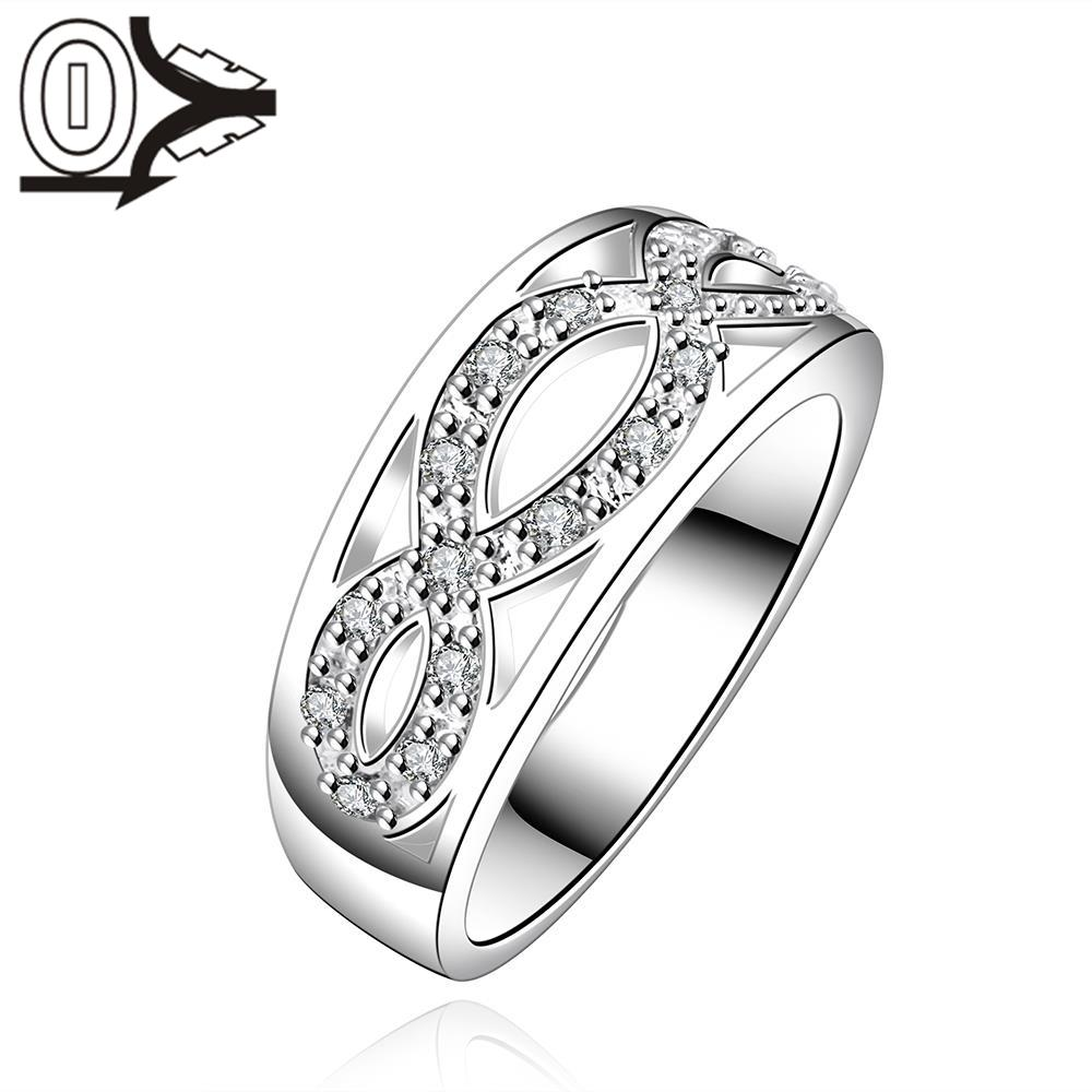 Free Shipping Wholesale Silver-plated Ring,Silver Fashion Jewelry,Women&Men Gift Inlaid Stone X Cross Silver Finger Rings