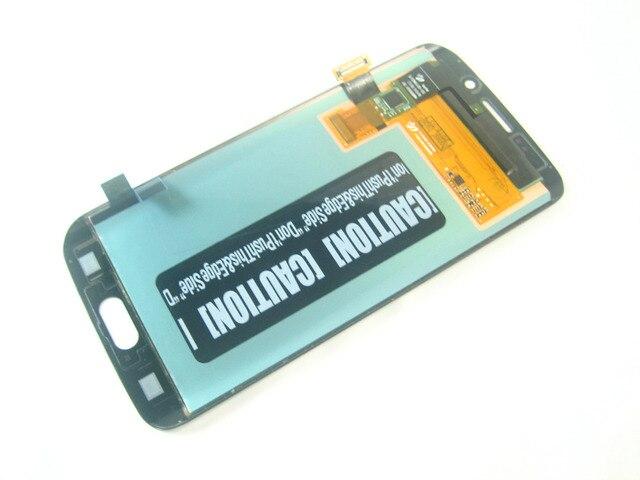 Замена Полный AMOLED Дисплея LCD + Сенсорный Экран Digitizer для Samsung Galaxy S6 edge SM-G925 G925 Темно-Синий