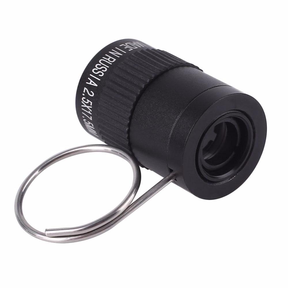 Правда Приключения карманный мини брелок 2.5x17.5 Монокуляр телескоп HD для спорта на открытом воздухе Пеший Туризм Кемпинг черный