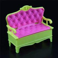 1/12 casa de bonecas móveis em miniatura sofá cadeira casal sofá banco bonecas casa acessórios venda quente