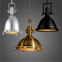 Industrial Rust Wave Nautical E27 Bulb Pendant Lamp Hanging Light Retro Vintage Art Deco Loft Brick Pendant Lighting Fixture